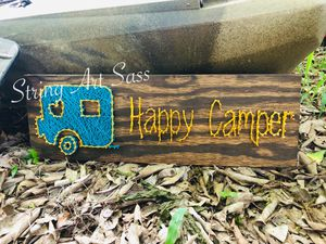 Happy Camper String Art for Sale in Lake Panasoffkee, FL