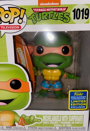 TMNT MICHAELANGELO WITH SURFBOARD sdcc funko pop for Sale in Caldwell, ID