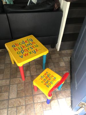 New Kids ABC's Table and chair for Sale in San Diego, CA