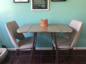Mid-Century Formica Drop-leaf Table & Matching Chairs for Sale in Glendale, CA
