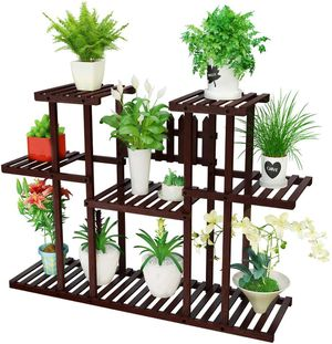 Homemaxs Plant Stand Indoor 3 Tier Bamboo Flower Pot Shelves for Sale in Ontario, CA