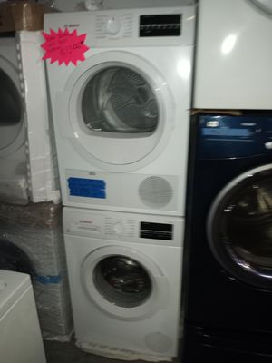 NEW SCRATCH AND DENT BOSCH FRONT LOAD WASHER AND VENTLESS ELECTRIC DRYER SET 24IN WITH MANUFACTURING WARRANTY for Sale in Baltimore, MD