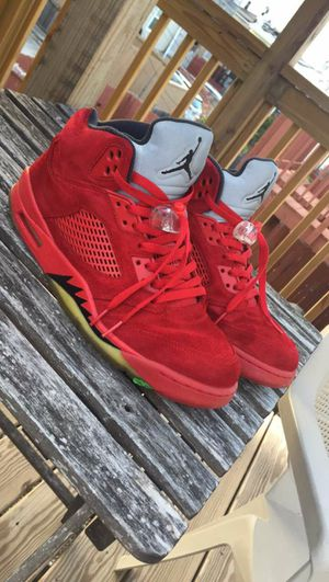 Red Suede Jordan 5s for Sale in Annapolis, MD