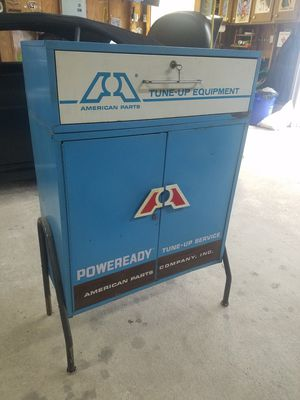 Used, Antique American Parts Tune Up Tool Cabinet Box for Sale for sale  Union Beach, NJ