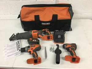 Ridgid 18 Volt 3 Tool kit 2 Ah battery included Reciprocating Saw Drill/Driver Impact driver for Sale in Mesa, AZ