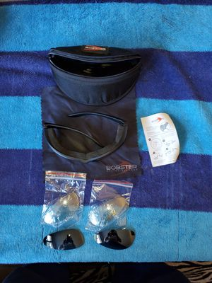 Bobster eyewear w/ 3 diffrent lenses case and cleaning rag for Sale in Overland Park, KS