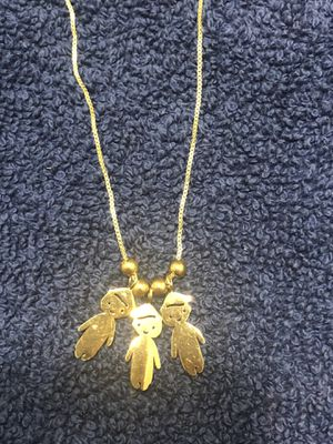 Necklace with 3 Boys charms for Sale in Lake Elsinore, CA