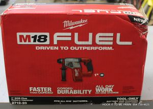 "Milwaukee 2712-20 M18 FUEL 18V Li-Ion 1"" SDS Plus Rotary Hammer (Bare Tool) New for Sale in Margate, FL"