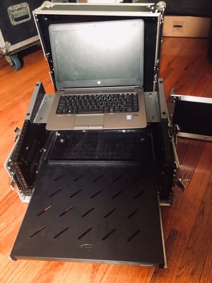 DJ laptop and mixer flight case. Comes with rack mountable 8 channel alesis mixer! for Sale in Boston, MA