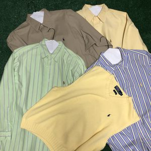 Lot of POLO by Ralph Lauren Dress Shirts & Vest for Sale in Acworth, GA