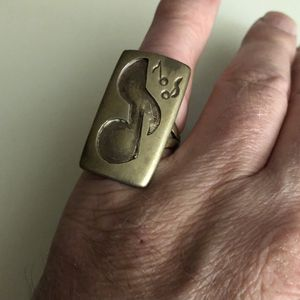Sterling Silver ring Music Symbol Note Size 10 Custom Jewelry musical 925 for Sale in Nashville, TN
