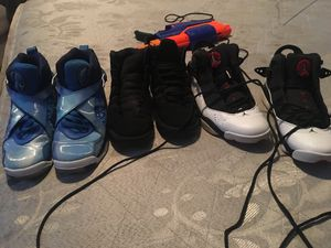 Blue shoes size 7 black shoes size 6 white shoes size 9.5 for Sale in Palmetto Bay, FL