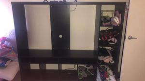IKEA tv stand with shelves for Sale in San Leandro, CA