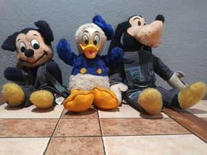 Vintage micky goofy and donald plushies for Sale in Las Vegas, NV