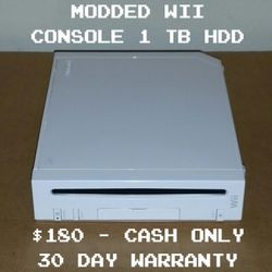 Modded Wii Console 1 TB HDD (DriveKey) - NES SMS SNES GENESIS TURBOGRAFX 16 N64 GAMECUBE WII WIIWARE TRIFORCE GAMEBOY GBC GBA NEO GEO ARCADE for Sale in Los Angeles,  CA
