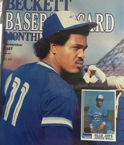 Beckett November 1987 issue #33, Front Cover Jorge Bell, Back Cover George Brett & Kevin Seitzer. for Sale in Boston,  MA