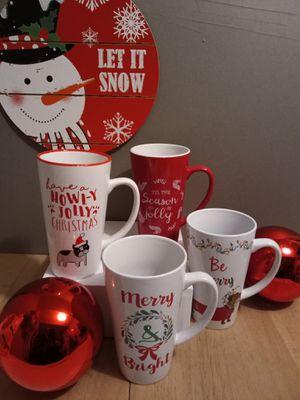 Large Christmas mug set 4/$12.00 for Sale in Greenbelt, MD