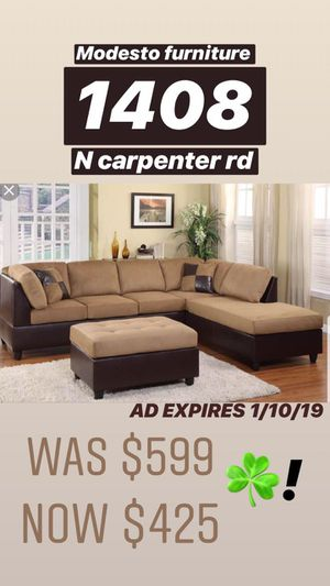 BEAUTIFUL tan SECTIONAL NEW NEW NEW for Sale in Modesto, CA