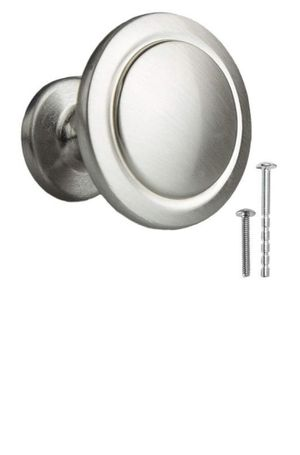 Ilyapa Satin Nickel Kitchen Cabinet Knobs - 1 1/4 Inch Round Drawer for Sale in Mesquite, TX