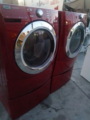 RED WASHER AND DRYER SET MAYTAG for Sale in Whittier, CA