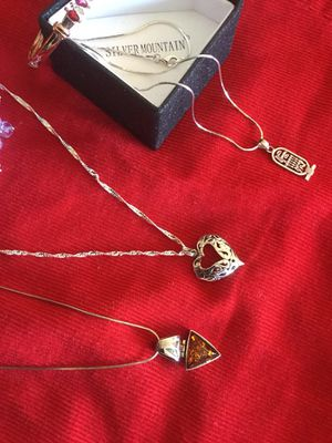 Lovely Silver necklaces and more jewelry at my page. 🌿🌹🌿 Accessorize with Sterling Silver Jewelry for Sale in Lincolnia, VA