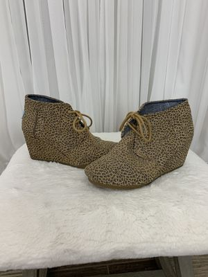 Toms Animal Print Bootie size 7.5 for Sale in Jacksonville, FL