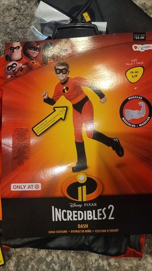 Incredibles Costume size small 4-6 for Sale in Los Angeles, CA
