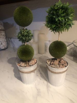 15 inch home decor mini topiary tress for Sale in Scottsdale, AZ