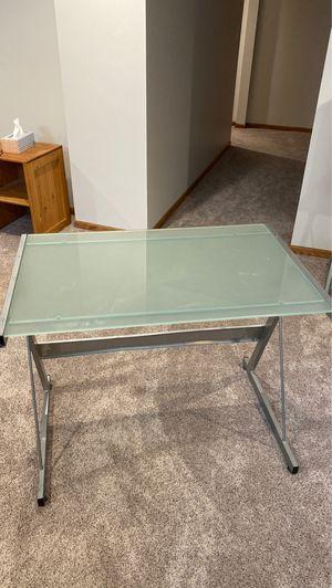 Glass top desk for Sale in Hays, KS