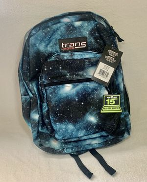 Jansport trans supermax cosmos backpack with laptop sleeve for Sale in Pasadena, TX