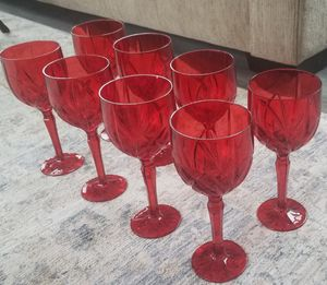 8 Red Goblets. Free for Sale in Sykesville, MD
