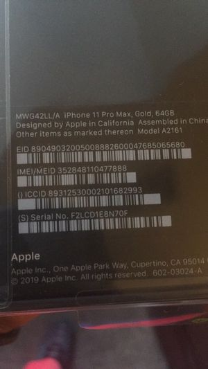 5 IPHONE 11 pro 64gb phones selling all 5 brand new never used for Sale in Nashville, TN