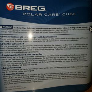 Breg Polar Care Cube Cold Therapy Unit Post Knee Surgery for Sale in San Diego, CA