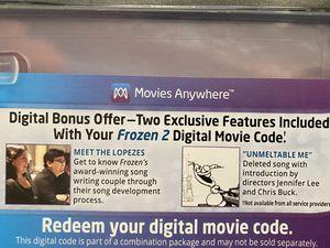 Frozen 2 4K movie digital download code for Sale in Murrieta, CA