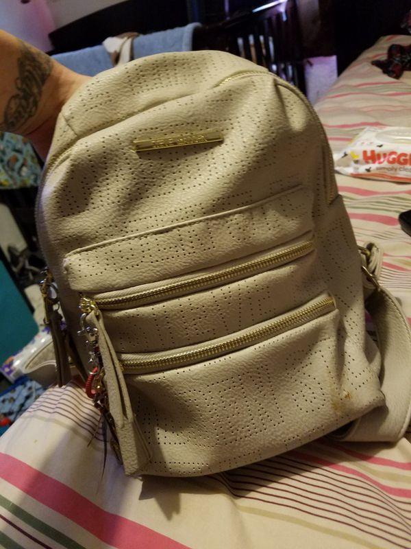 Steven madden beige backpack purse