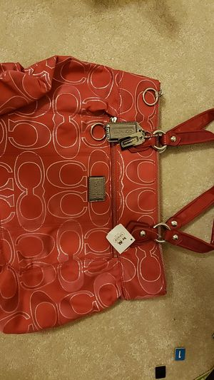 Coach bag red / pink for Sale in Fairfax, VA