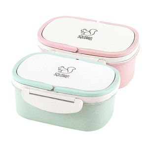 Wheat Straw Double-Layer Insulated Lunch Box Food storage Container Children School Office Portable Bento Box Organizer for Sale in Des Plaines, IL