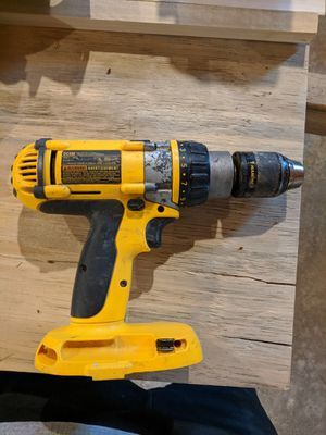 Dewalt battery hammer drill, + adapter for newer style batteries + old style 18volt battery for Sale in Columbus, OH
