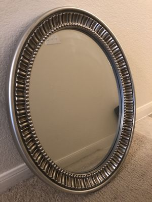Silver Oval Wall Mirror For Sale for Sale in Denver, CO