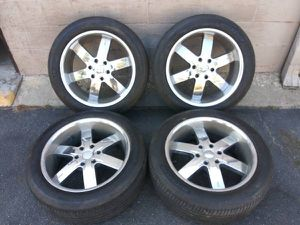 6 lug 20 inch rims and tires. Chevy, Toyota, Nissan, more for Sale in Montebello, CA