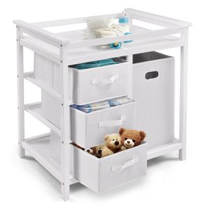 Infant Changing Table with 3 Basket Hamper Diaper Storage for Sale in City of Industry, CA