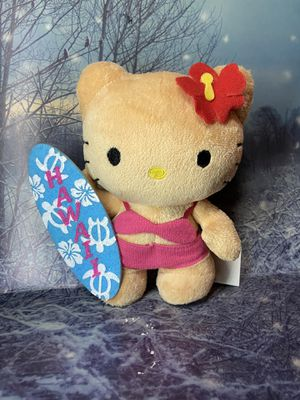 "New Ultra Rare Sanrio Hello kitty suntan surfboard 6"" plush toy doll for Sale in Lakewood, CA"