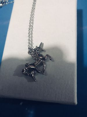 Sterling silver unicorn pendent on silver chain 18' for Sale in Tacoma, WA