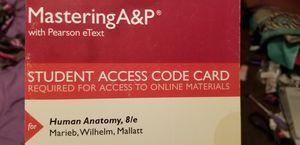 Human anatomy pearson etext access code card for Sale in Long Beach, CA
