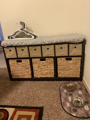 Bench with drawers for Sale in Spokane, WA