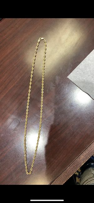 14k gold rope chain for Sale in Hesperia, CA