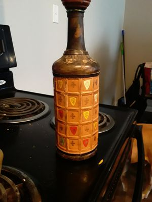 Vintage Italian Leather Covered Decanter- made in Italy for Sale in Santa Maria, CA