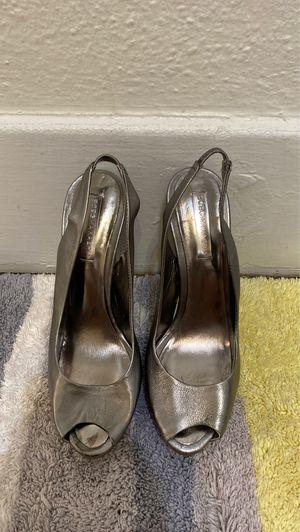 BCBG Maxazria silver heels. Size 7 1/2 for Sale in Torrance, CA