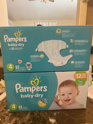 Pampers diapers size 4 for Sale in Riverside, CA