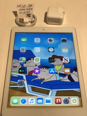 """Apple iPad Air1st,16 GB, A1474,WiFi,9.7"""",Silver/White,Clean iCloud, full function, Good Condition.iOS 12.4.8. for Sale in Castro Valley, CA"""